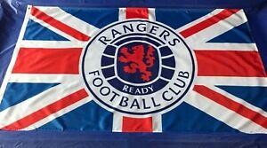 Glasgow Rangers Flag Size 5ft x 3ft ,Loyalist ,WATP, New Crest