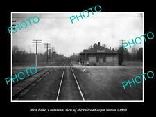 OLD 6 X 4 HISTORIC PHOTO OF WEST LAKE LOUISIANA THE RAILROAD DEPOT STATION c1930