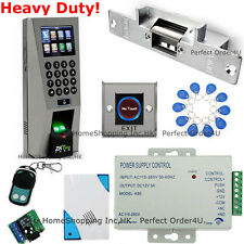 New Fingerprint+RFID Card+Password Door Access Control System+Strike Lock+Remote