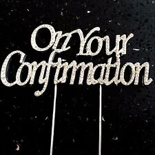 On Your Confirmation Cake Topper Rhinestone Crystal Diamontie Bling Religious