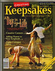 CREATING KEEPSAKES SCRAPBOOK MAGAZINE September 1998 9/98 GET ORGANIZED