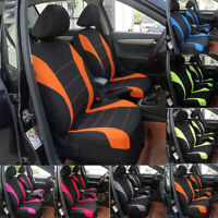 Universal Car Seat Covers Front&Rear Seat Back Head Rest Protector Orange