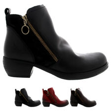 Ladies Fly London Meli Rug Zip Casual Low Heel Winter Ankle High Boots All Sizes