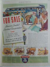 1937 Greyhound bus lines America's smartest smoothest Transportation vintage ad