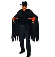 PUMPKIN SLAYER COSTUME Black Cape Halloween Party Scary Dress Adult Size