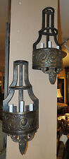 Exceptional Pair of 19th Century very heavy three-light Bronze Wall Sconces