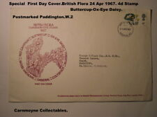 Special First Day Cover. British Flora. 4d Stamp.24 Apr 1967.AH1485.
