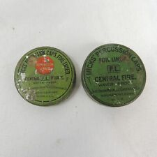 Hicks Percussion Caps & Tin Central Fire Foil Lined + extra Tin Lid