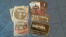 Seether Sticker Promo CD DVD Lot Needles Fine Again Boysetsfire Disclaimer