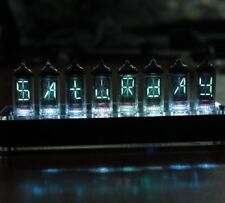 NIXT CLOCK - 100% Assembled IV-17 VFD Tube Clock Scrolling Text GPS nixie era