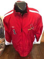 MENS Large Easton Zip Front Warm Up Jacket Hamilton Cardinals #1