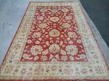 "6' x9'2"" Pakistani Peshawar Chobi Rug carpet Handmade VegDye 100% Wool 6x9 area"