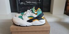 *Limited Edition* Nike Huarache Air White Sport Turquois / Gold UK mens size 11