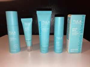 Tula Full Size Glow and Get It, Deluxe Size Purifying cleanser, primer, toner