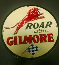 GILMORE Gasoline Oil Gas Porcelain Advertising sign