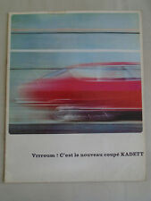 Opel Kadett Coupe range brochure c1970 French text