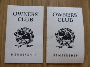 TOTOPOLY OWNERS' CLUB MEMBERSHIP CARDS,VINTAGE 1949,WADDINGTON