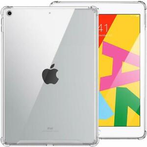 For iPad 7 Gen 10.2 inch Rubber Thin Case TPU Silicone Protective Clear Cover