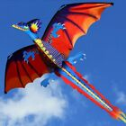 Dragon Kite 3D Pterosaur Single Line With Tail Outdoor Sports Adults Kids Toy