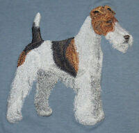 Embroidered Ladies Short-Sleeved T-Shirt - Wire Fox Terrier C9607