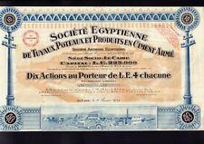 EGYPT Cement Products: Egyptienne Tuyaux Poteaux et Produits en Ciment Arme 1949