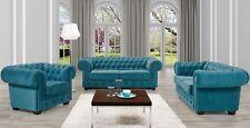 Sofagarnitur Sofa Couch 3+2+1 - Garnitur Bettfunktion Couchgarnitur Chesterfield