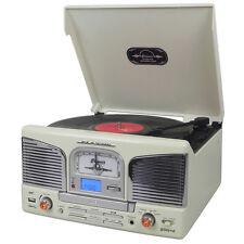 Groov-e centro musicale con lettore Vinile Record CD USB FM Radio-Crema-gvtt 03CM