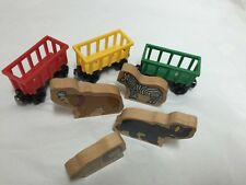 Thomas and Friends Circus Train Cars Lion Bear Elephant Zebra Lot 7 pieces