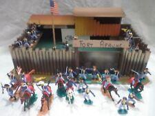 Fortino Fort APACHE in legno anni 70° Con Soldatini TIMPO 7° Cavalry