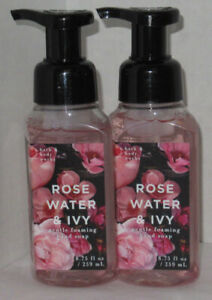 Bath & Body Works Foaming Hand Soap Lot Set of 2 ROSE WATER & IVY