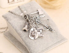 Hot TV Play The Walking Dead Unique Charm Long Chain Pendant Necklace Gift 2016