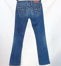 Sang Real by Miss Me King Leopold II Medium Wash Boot Cut Jeans 26 x 33 long