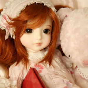 1/6 BJD Doll Resin Female Body Girls GIFT + Face Make Up Eyes Wig Dress FULL SET