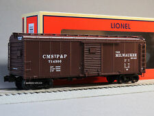 LIONEL MILWAUKEE ROAD SINGLE DOOR ROUND ROOF BOXCAR 714305 o gauge train 6-25972