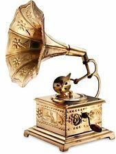 Home Décor Vintage Dj Solid Brass Showpiece Gramaphone Phonograph Gift Bg 02