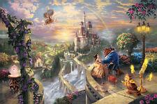 Beauty and the Beast Disney Thomas Kinkade HD Art Print Canvas picture 20x30 cn