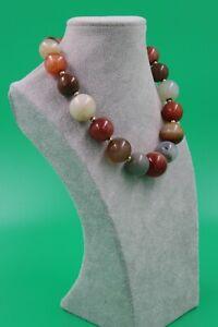 Gigantische Halskette aus großen Feuer Achat Perlen absoluter Hingucker !!