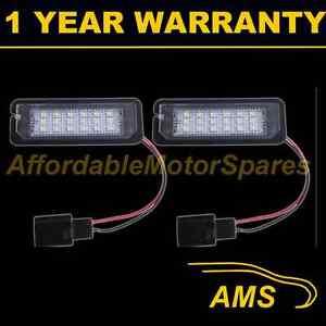 2X FOR VW PASSAT CC EOS POLO PHAETON RABBIT 18 WHITE LED NUMBER PLATE LAMPS