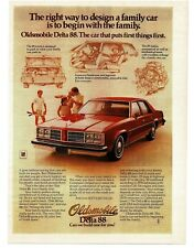 1978 Oldsmobile Delta 88 Red 4-door Sedan VTG PRINT AD