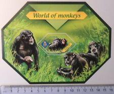 Solomon Islands 2014 world of monkeys chimpanzees mammals s/sheet mnh