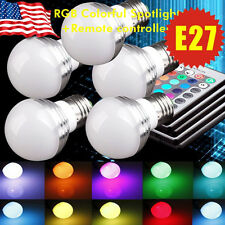 5X 3W E27 RGB Magic LED 16 Muti Color IR Remote Control+Changing Spot Light Bulb