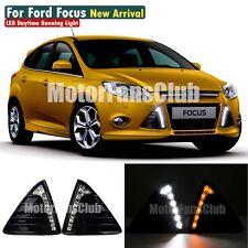 LED Daytime Running Light For Ford Focus DRL Fog 2011 2012 2013 2014 Turn Signal