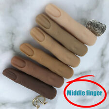 Silicone Model Middle Finger Hand Nails Art Practice Mannequin High Simulation