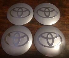 Toyota Silver & Chrome Emblem Wheel Center Hub Cap Badge Sticker 56.5 Mm