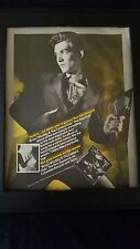 Bruce Woolley & The Camera Club Rare Original Promo Poster Ad Framed!