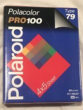 POLAROID TYPE 79 INSTANT COLOR FILM 4x5 POLACOLOR PRO100 NEW SEALED BOX, EXPIRED