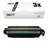3x Eurotone ECO Patrone SCHWARZ für HP Color LaserJet Enterprise M-651-n
