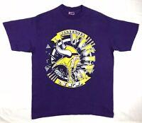 Vtg 90s Trench Minnesota Vikings Mens XL NFL Football Purple S/S T-Shirt C7