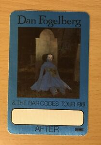 1981 DAN FOGELBERG & THE BAR CODES THE INNOCENT AGE TOUR CONCERT BACKSTAGE PASS