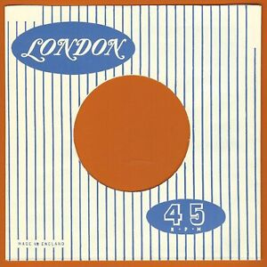 LONDON (white with blue stripe) REPRODUCTION RECORD COMPANY SLEEVES (pack of 10)